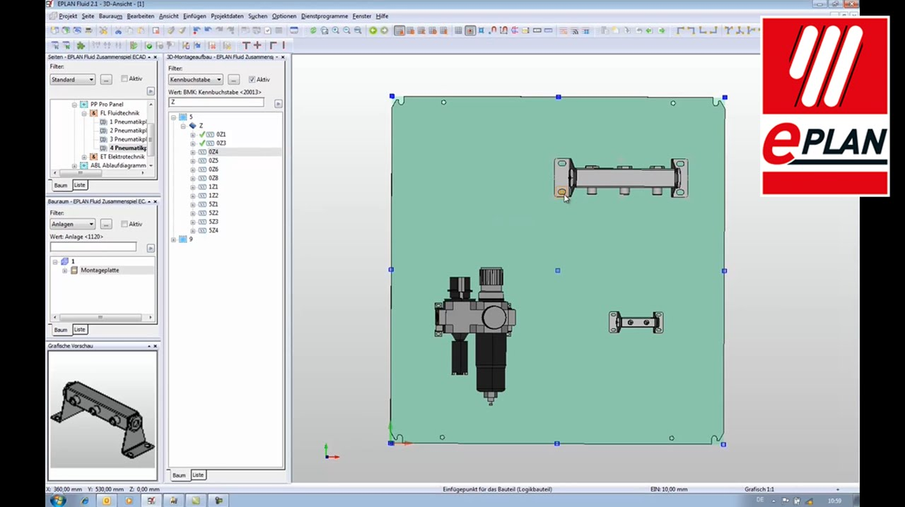 Zusammenspiel eplan fluid und autodesk inventor im m cad for What is eplan software