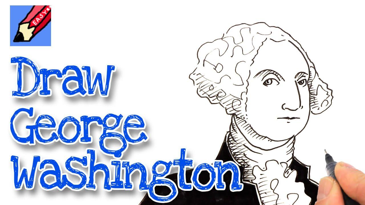 How to draw George Washington - YouTube