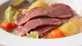 Coconut Milk Corned Beef And Cabbage - Corned Beef Cooked In Coconut Milk And Red Curry