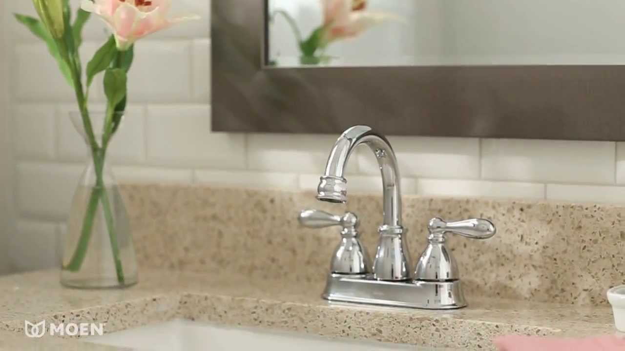 Caldwell™ Centerset Bathroom Faucet | Moen Features Spotlight - YouTube