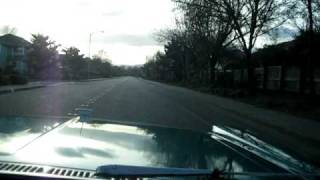 1965 Blue Ford Galaxie Convertible Driving