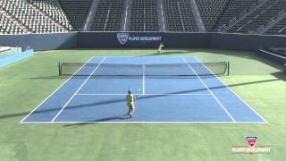 10 and under tennis techniques   78 green backhand play
