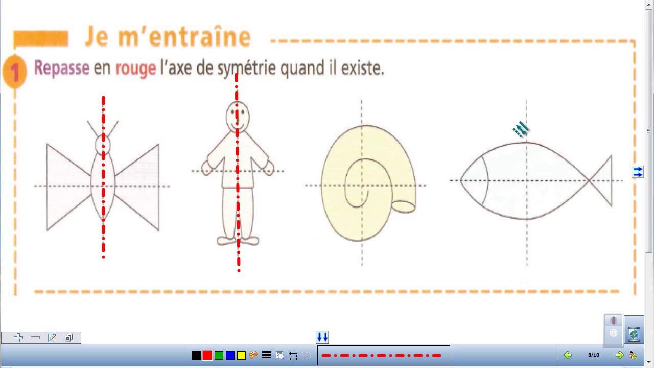 Symétrie CE2 EXERCICES - YouTube