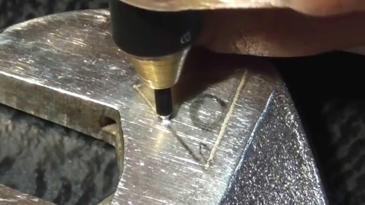 Маркировка электроэрозионным аппаратом Arkograf (электроискровой .