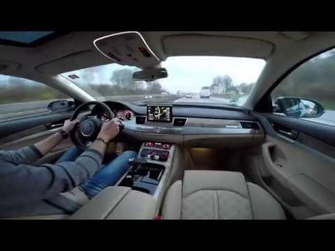 GoPro4 Audi A8 Autobahn Drive & Music