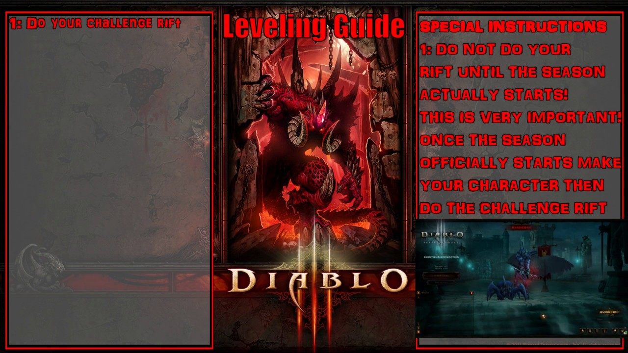 Diablo 3 s16 | leveling guide for any class (tips, faq) 2. 6. 4.