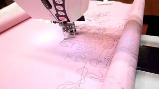 Free Machine Quilting With Janome Horizon And Freestyle Quilting Frame
