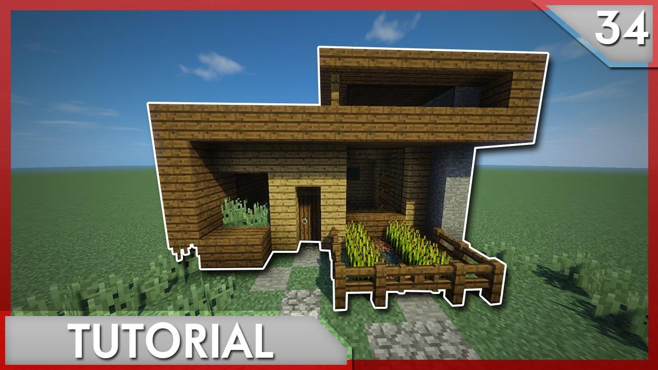 Minecraft como hacer una casa moderna para survival for Casas modernas minecraft keralis
