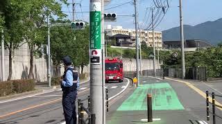 福岡市消防局 壱岐救助7  緊急走行