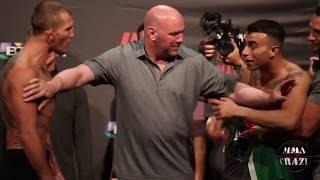 UFC Fight Night Liverpool Jason Knight vs. Makwan Amirkhani weigh in face off
