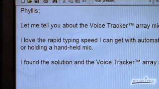 Voice Tracker II Array Microphone Dictation Demo
