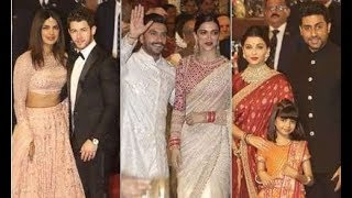 Isha Ambani's Wedding Reception - FULL VIDEO - Ranveer, Deepika, Priyanka and Nick Jonas Arrive