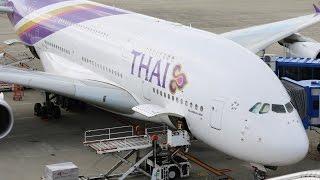 中部国際空港 タイ国際航空A380 3月限定就航