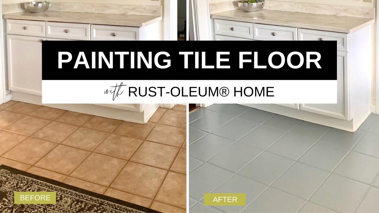 Kitchen Tile Floor With Rust Oleum