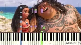 Урок фортопиано Учимся играть на пианино Моана - Пора сказать спасибо  Lektion des Klaviers о