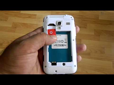 Remove the cover, SIM card, battery of Samsung Galaxy Ace Plus phone