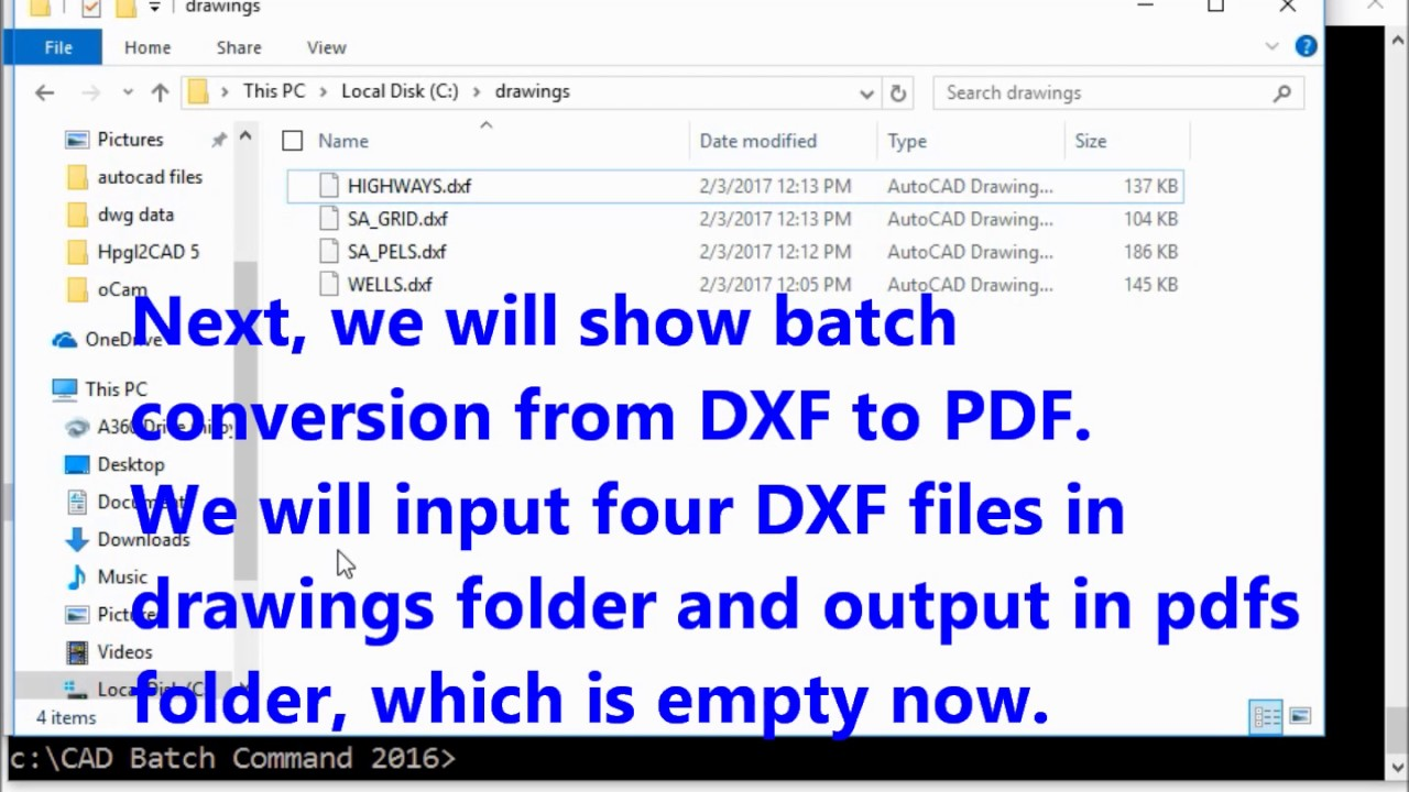 Batch convert DWG to PDF for 2019: CAD Batch Command