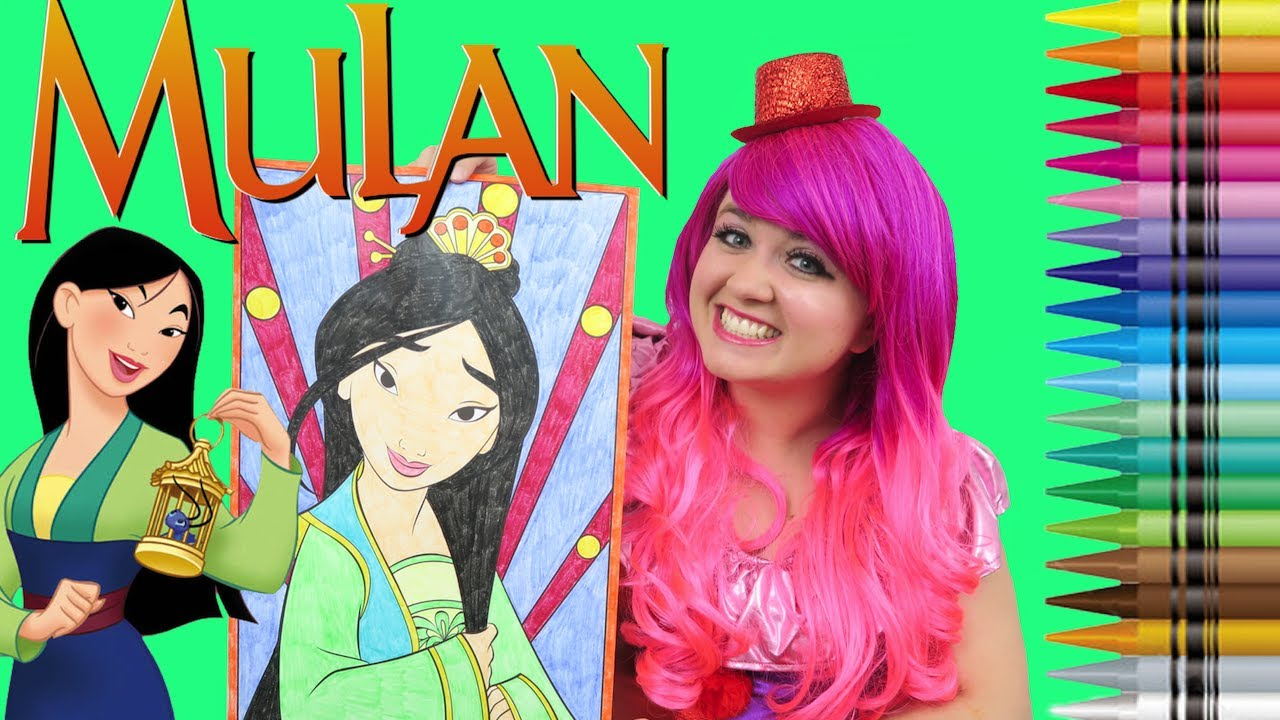 coloring mulan disney princess giant coloring book page crayola crayons kimmi the clown - Giant Coloring Book