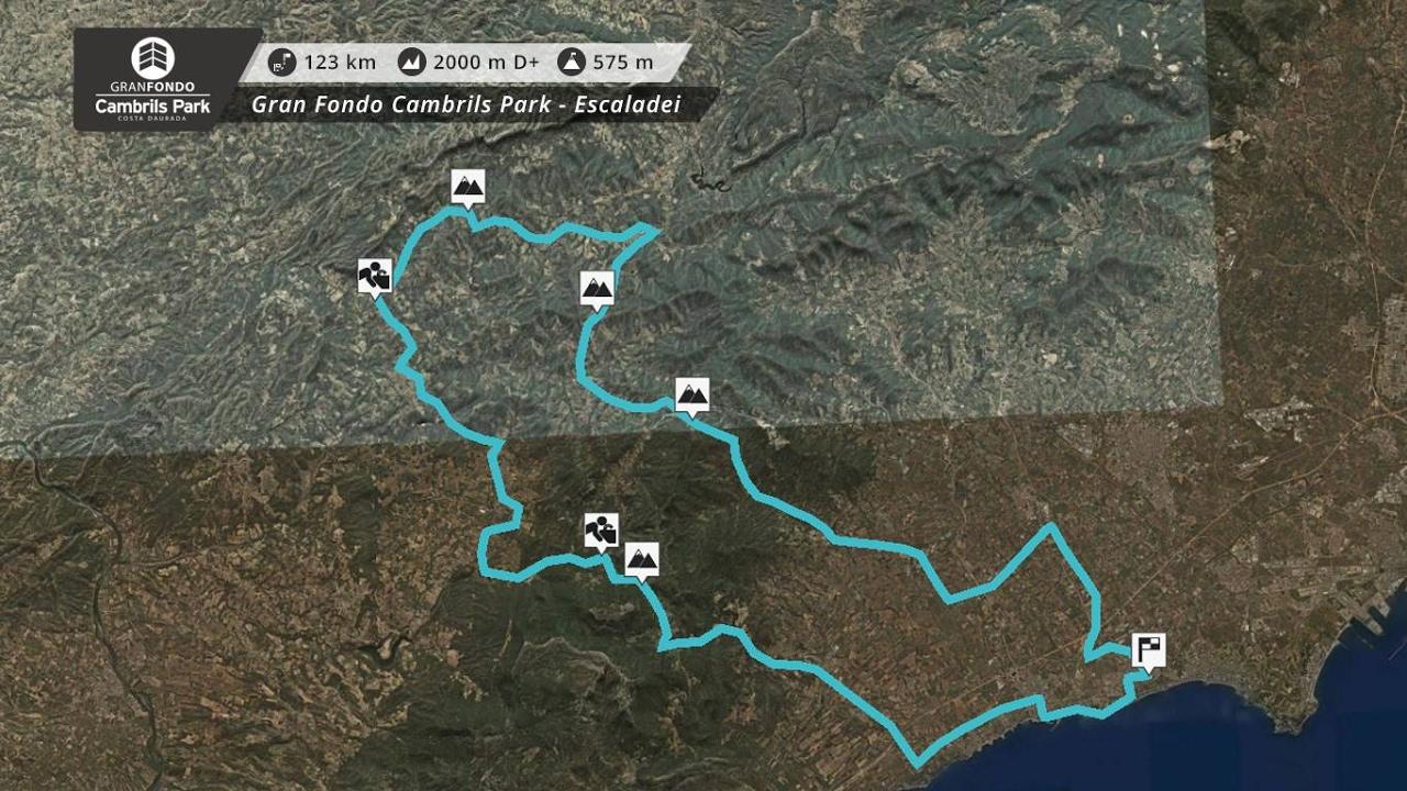 Gran Fondo Cambrils Park 2017 Costat Daurada Escaldei 123 Km