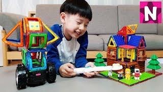 강아지를 내 맘대로! 맥포머스 매직월드 코딩블록 세트 입체자석 장난감 놀이 뉴욕이랑 놀자 MAGFORMERS MAGIC WORLD NY Toys
