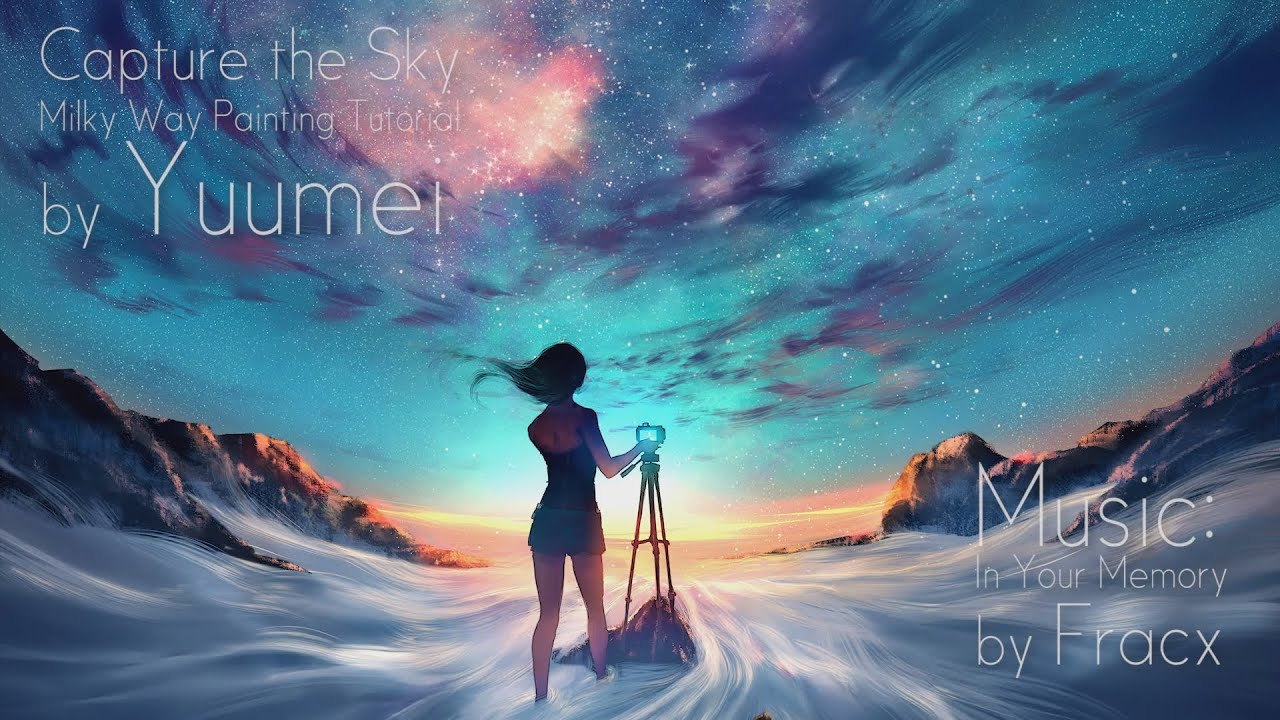 Boy And Girl Anime Wallpaper Milky Way Painting Tutorial Photoshop And Sai Youtube