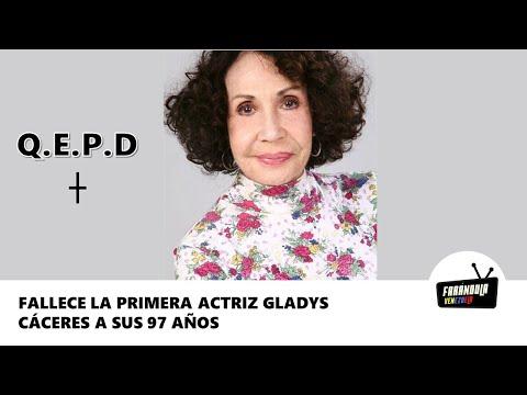 Fallece la primera actriz cubana venezolana Gladys Cáceres a sus 97 años