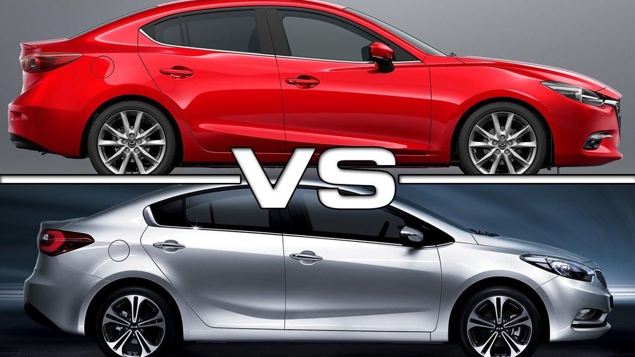 2017 Mazda 3 vs Kia Cerato - YouTube