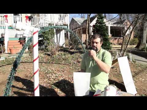 How to Make Christmas Light Yard Decorations