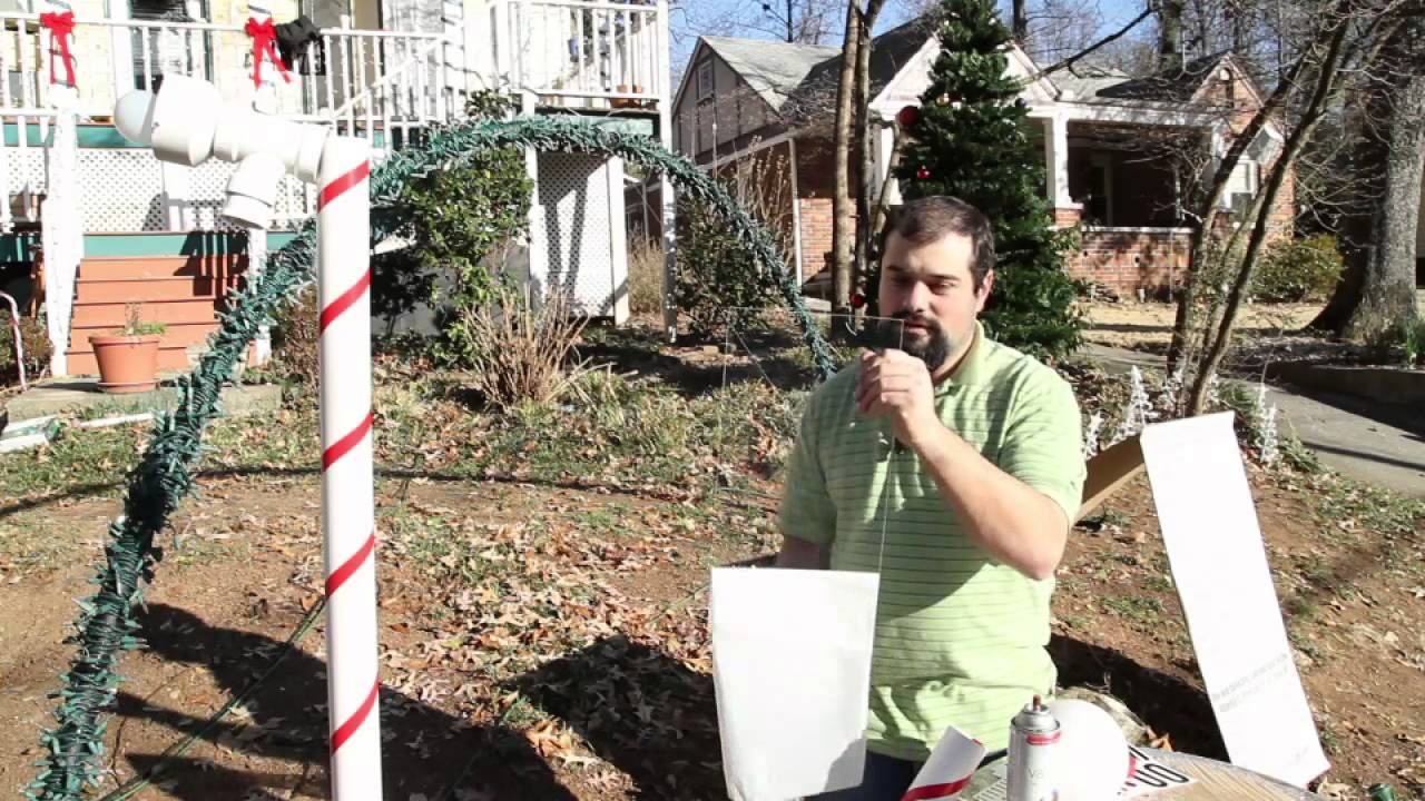 how to make christmas light yard decorations youtube