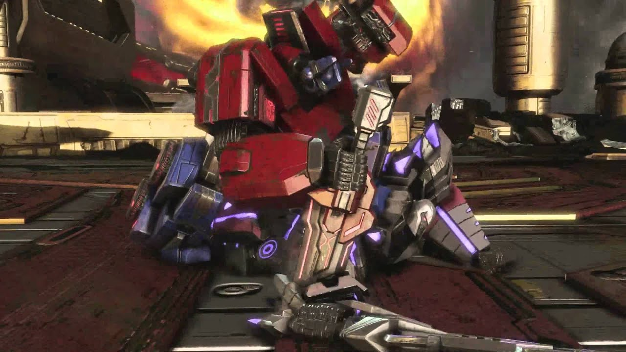transformers fall of cybertron ending prime vs megatron youtube