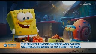 """Headed to Bikini Bottom to chat with the cast of """"Sponge on the Run""""!"""