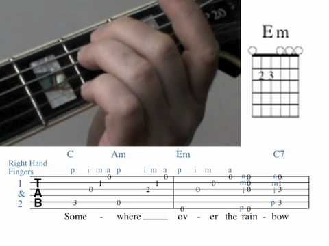 Over The Rainbow Guitar Lesson Chords Measures 12v Youtube