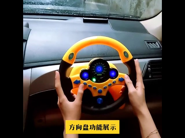 Plastic Car Steering Wheel Childerns Copilot Simulated Racing Driver For Kid Toy