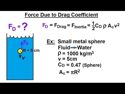 Physics - Fluid Dynamics (20 of 32) Force Due to Drag Coefficient