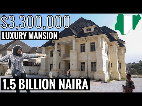 Inside a Massive $3,300,000 (₦1.5 BILLION) Luxurious Home in Abuja Nigeria