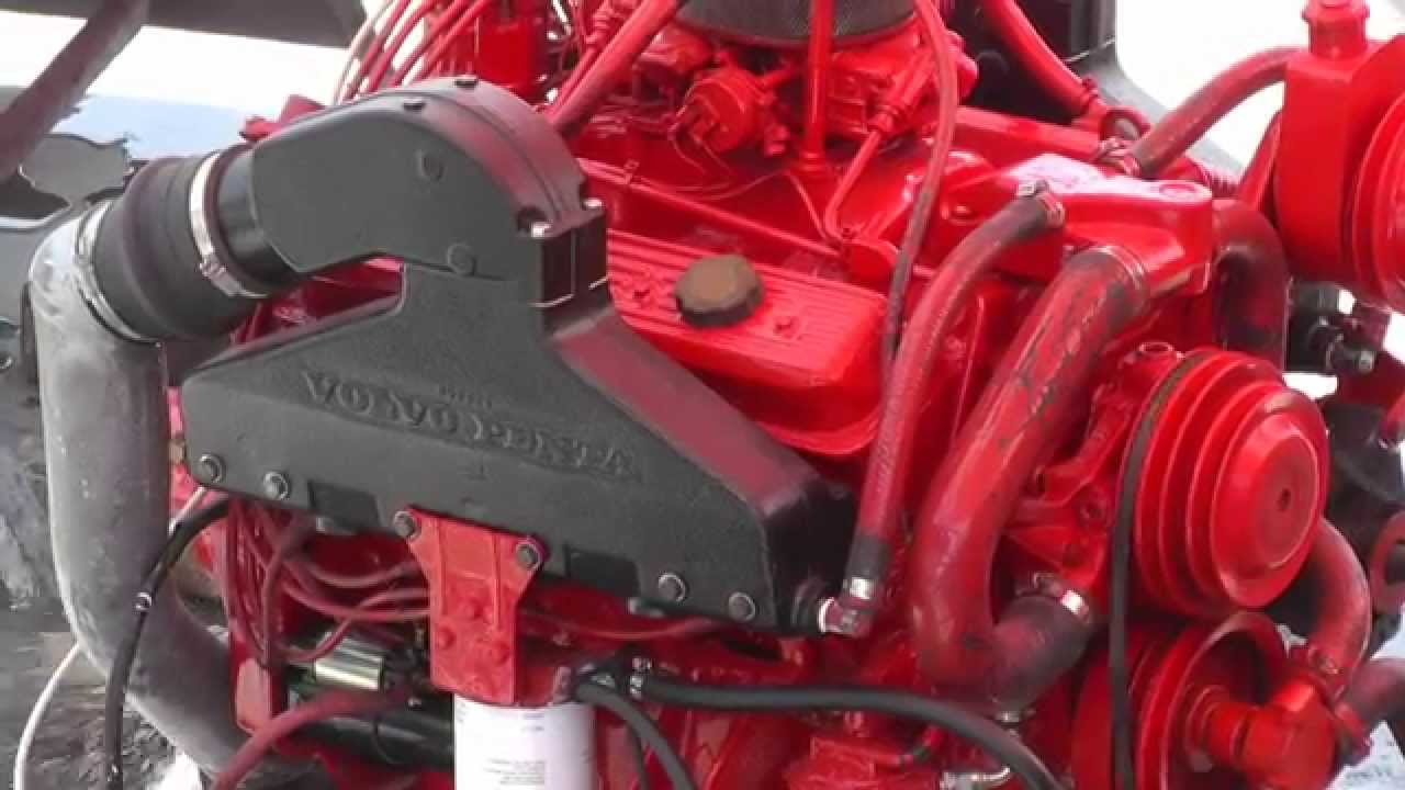 Rebuilt Volvo Penta V8 Marine Engine Ticking Over