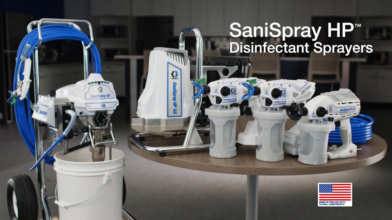 Graco SaniSpray HP Disinfectant Sprayers for Coronavirus COVID-19