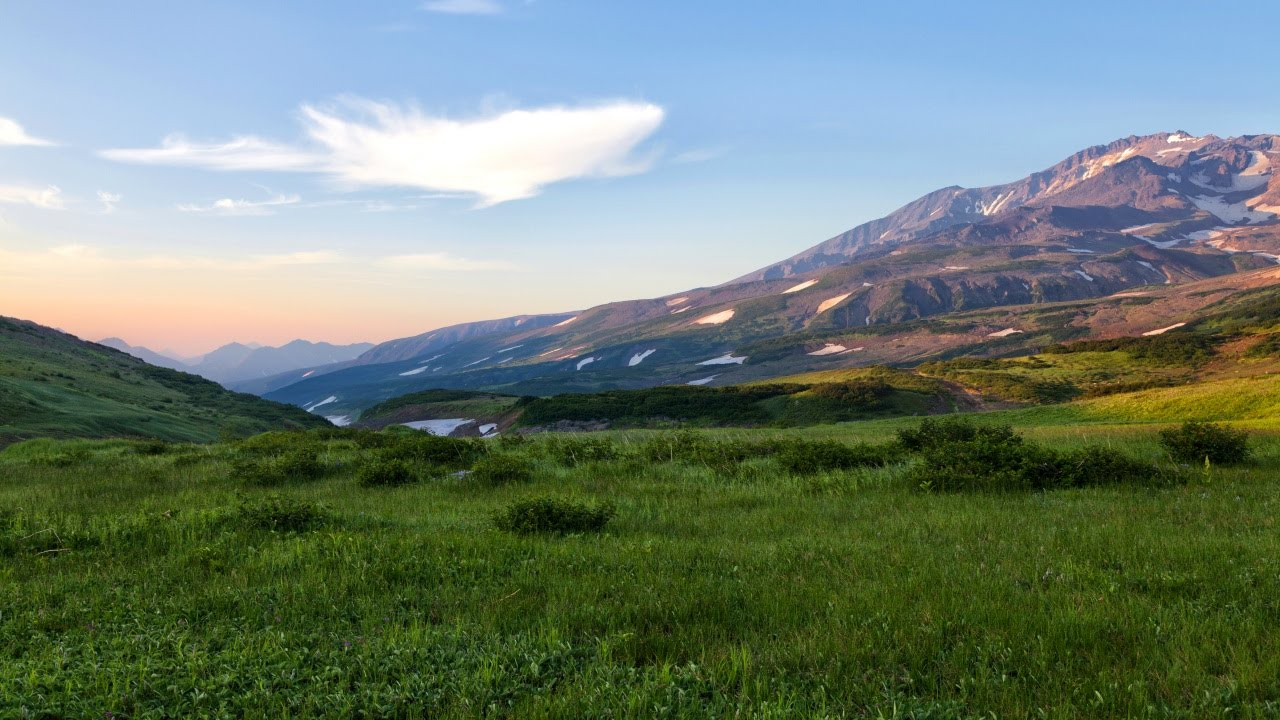 nature russia scenery kamchatka peninsula russian mountains meadows sky meadow 1280 grass landscape