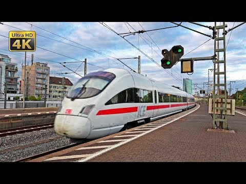 Frankfurt (Main) Süd - 30 minutes 4K [Ultra HD] video of ICE, IC, RB, freight and S-Bahn trains