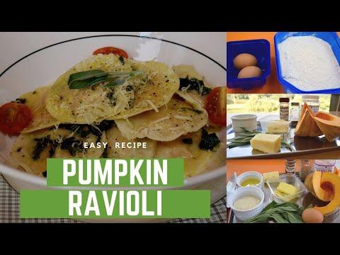 Food Brainwash: Pumpkin ravioli in a sage butter