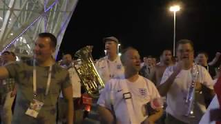 ⚽ England fans in Russia celebrate Tunisia win!!! ⚽