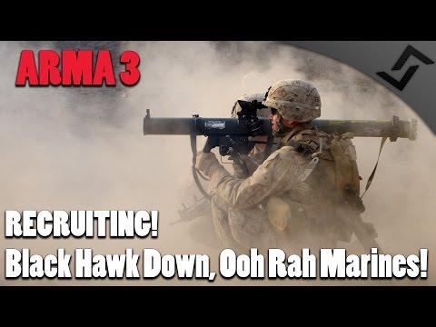 ARMA 3 - Black Hawk Down! Ooh Rah Marines!