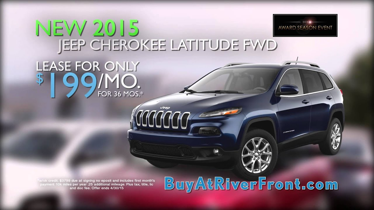 river front chrysler dodge jeep 2015 jeep cherokee 199 month youtube. Black Bedroom Furniture Sets. Home Design Ideas