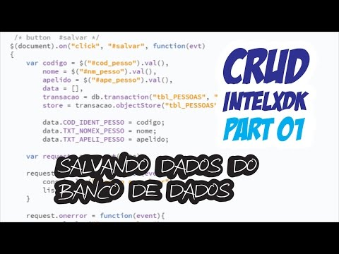 CRUD IntelXDK no IndexedDB Salvando - Part 01