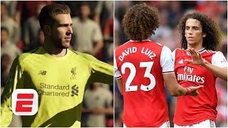 FIFA 19 Predictions - Liverpool vs. Arsenal: David Luiz or Matteo Guendouzi? | Premier League