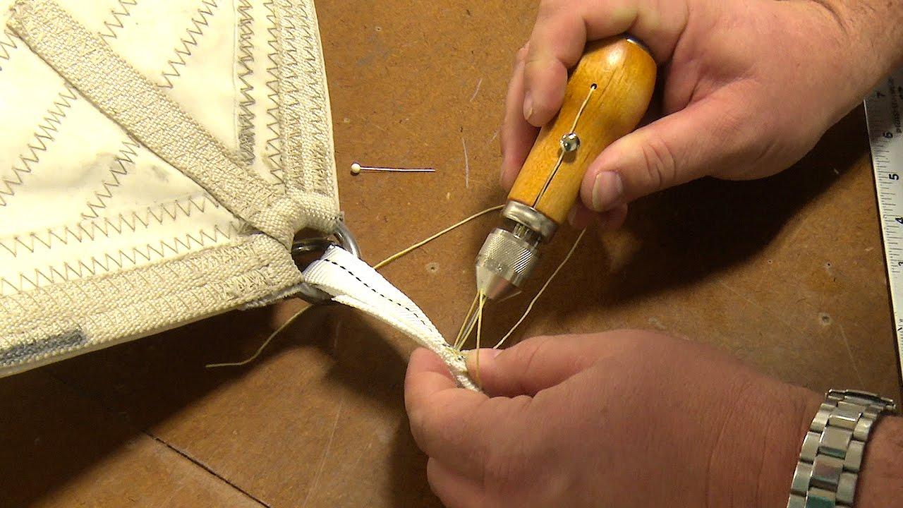 Using the Speedy Stitcher to Sew Webbing & Canvas