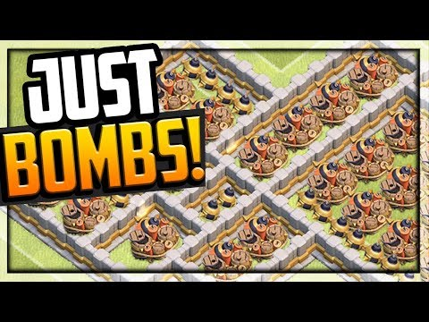 Can ONLY BOMBS END This Attack? Clash of Clans 99 or 100!