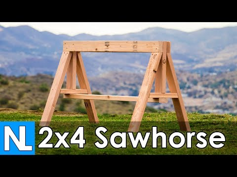 Heavy Duty 2x4 Sawhorse / simple DIY woodworking
