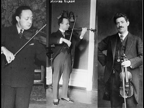 Rate Heifetz, Elman & Kreisler playing Tchaikovsky Canzonetta