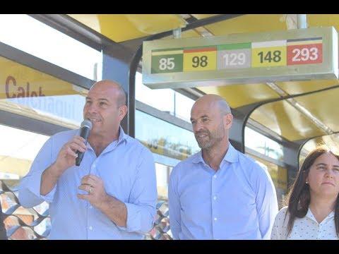 Quilmes: Molina y Dietrich valoraron el nuevo Metrobus de avenida Calchaquí